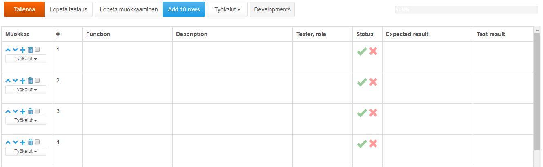 ProjectTOP testausohjelmisto testidokumentti